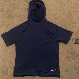 Nike short sleeve hoodie